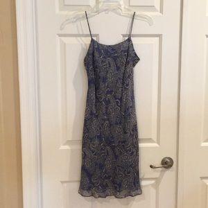 Ann Taylor Silk Dress - Blue Paisley - 2P
